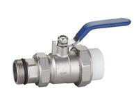 QF017 PPR单活接球阀(回水阀)