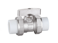 QF038 PP-R双熔件活接球阀